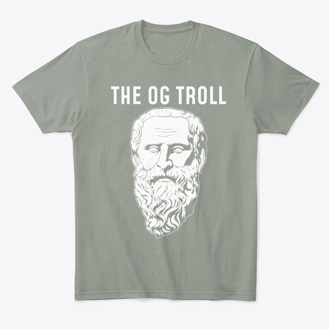 The Og Troll Funny Philosopher Diogenes Grey T-Shirt Front