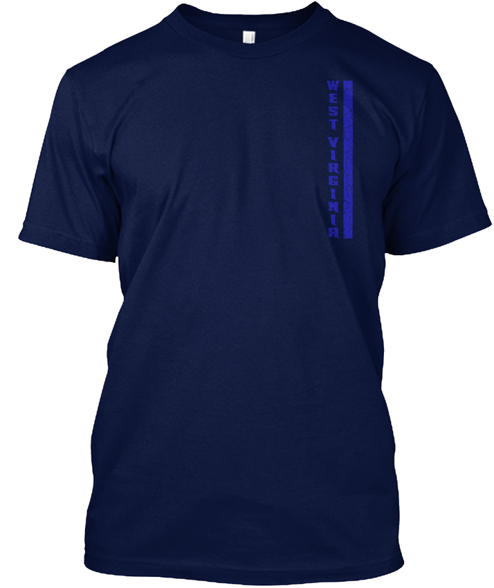 Wv-west-Virginia-Thin-Blue-Line-West-Hanes-Tagless-Tee-T-Shirt thumbnail 8