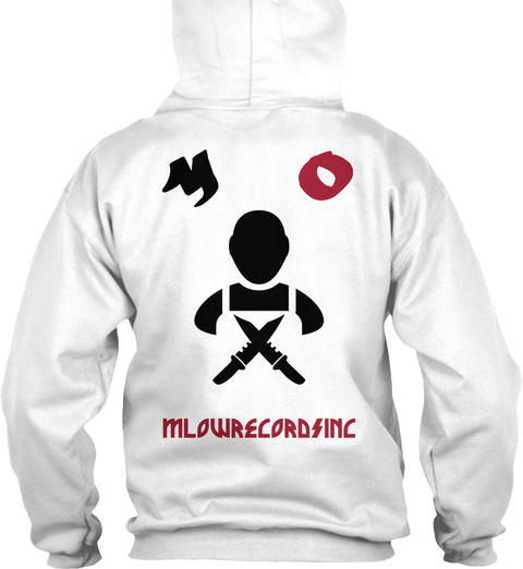 O M Mlow Records Inc White T-Shirt Back