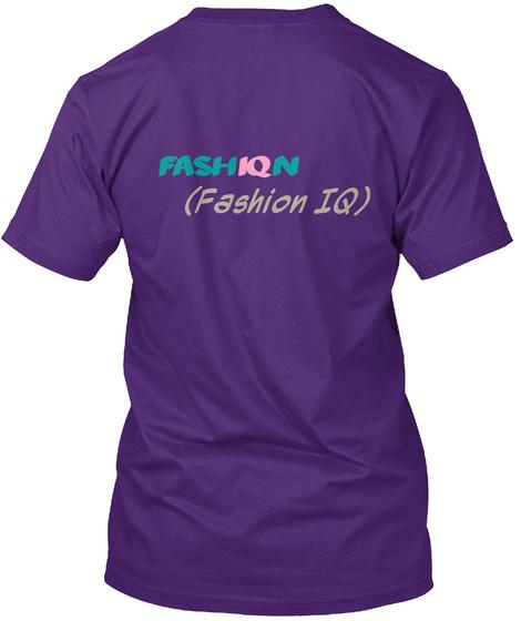 Fash Iq N (Fashion Iq) Purple áo T-Shirt Back