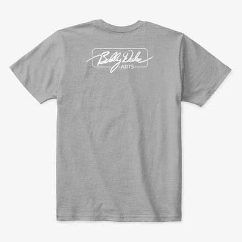 Bobby Duke Arts Light Heather Grey  T-Shirt Back