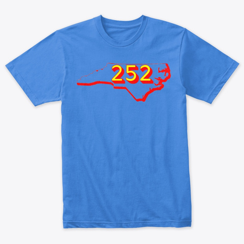 Nc Area Code 252 Vintage Royal T-Shirt Front