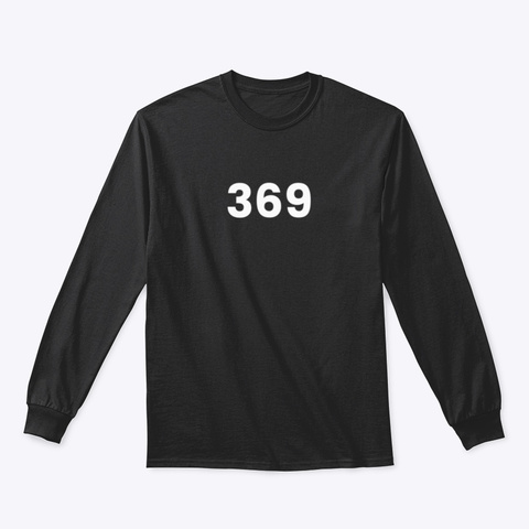 Long Sleeve Tee: 369 Black T-Shirt Front