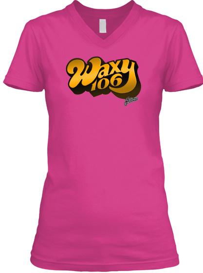 Waxy 106 Logo Berry T-Shirt Front