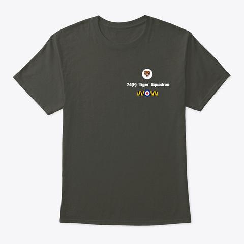 74(F) `tiger` Squadron T Shirt Smoke Gray T-Shirt Front