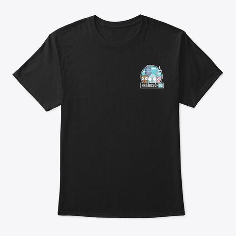 Friends Of Go Black T-Shirt Front