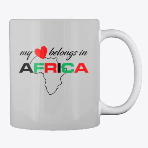 Hello Africa Light Grey T-Shirt Back