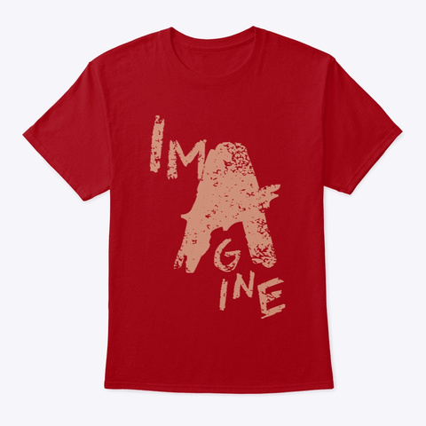 Imagine No A Holes™ Distressed (Mp) Deep Red T-Shirt Front