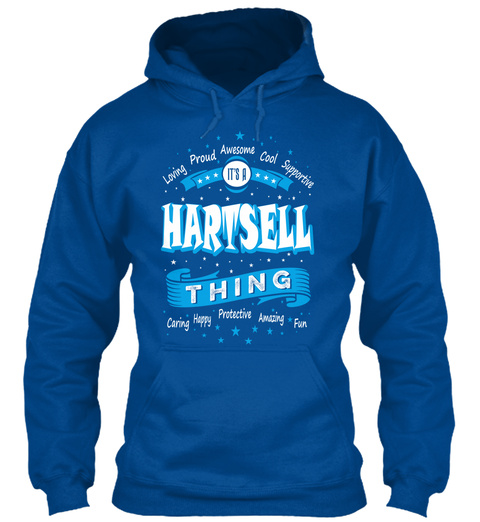 Name Hartsell Christmas Weather Royal T-Shirt Front
