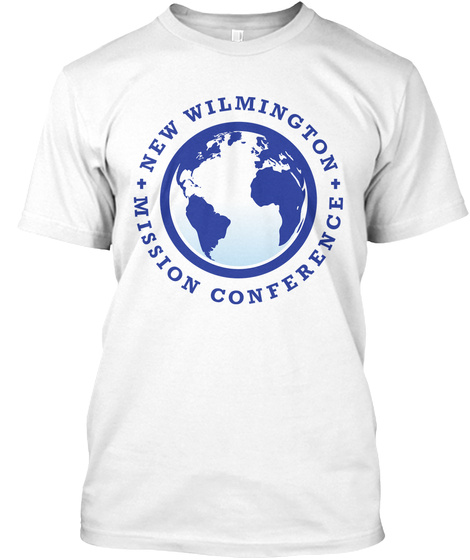 New Wilmington Mission Conference White T-Shirt Front