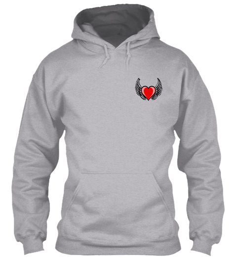 """In Loving Memory """"Son"""" Hoodie Sport Grey T-Shirt Front"""