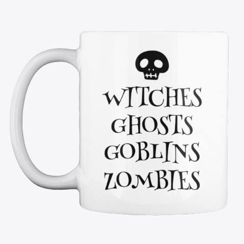Halloween Mug White T-Shirt Front