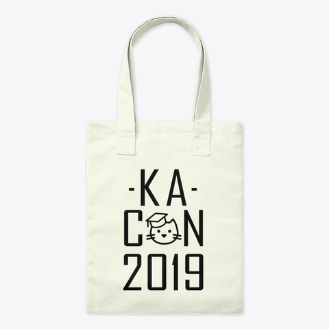 Ka Con 2019 Text Only Natural T-Shirt Front