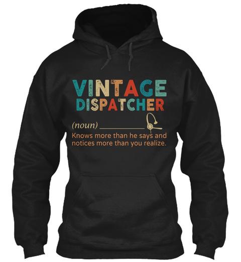 Vintage Dispatcher Black T-Shirt Front