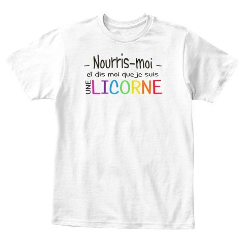 T Shirt Enfant   Nourris Moi Et Dis Moi  White T-Shirt Front