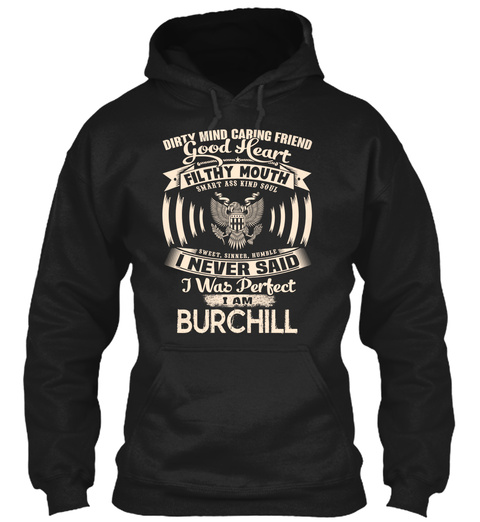 Burchill Name Perfect Black T-Shirt Front