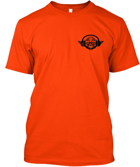 "#Yongeyoda ""All Life..."" Emblem [Red] Orange T-Shirt Front"