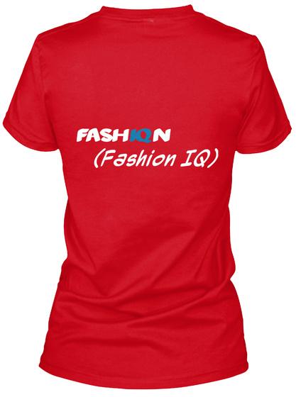 Fash Iq N (Fashion Iq) Red T-Shirt Back