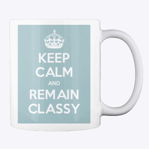 Keep Calm Mug In Blue White T-Shirt Back
