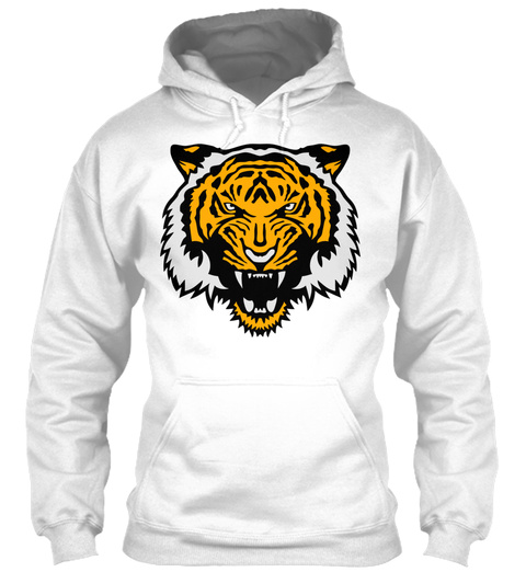 Tiger Wild Animal Cartoon 506 White T-Shirt Front