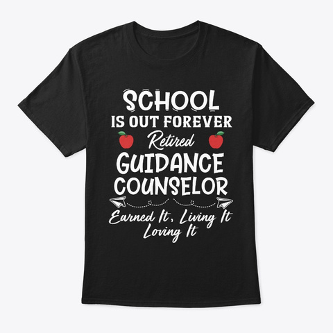 Proud Retired Guidance Counselor Gift Black T-Shirt Front