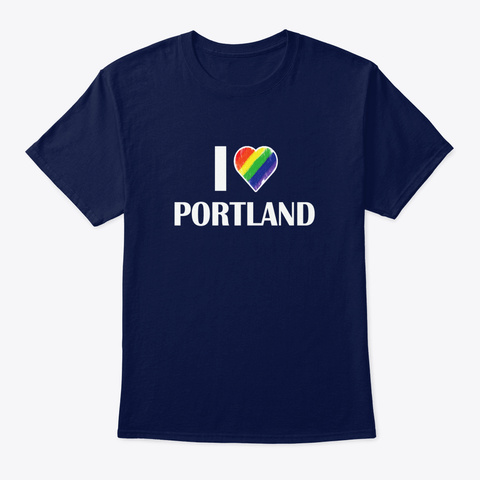 Lgbt Portland   Lgbt Love Outfit Lgbt Po Navy T-Shirt Front