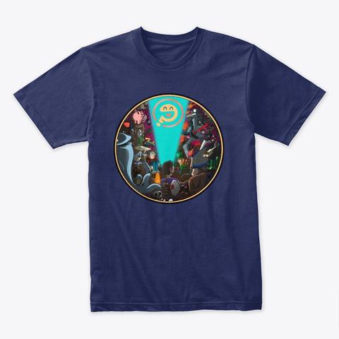 Absurd Artwork T Shirt Midnight Navy T-Shirt Front