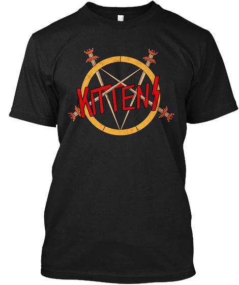 Kittens Black T-Shirt Front