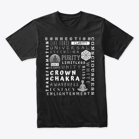 Crown Chakra White Blah Black T-Shirt Front