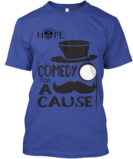 Hope Comedy For A Cause Deep Royal T-Shirt Front