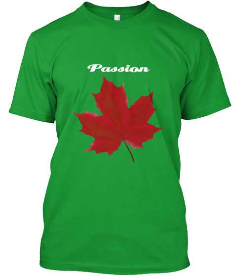 Passion Kelly Green T-Shirt Front