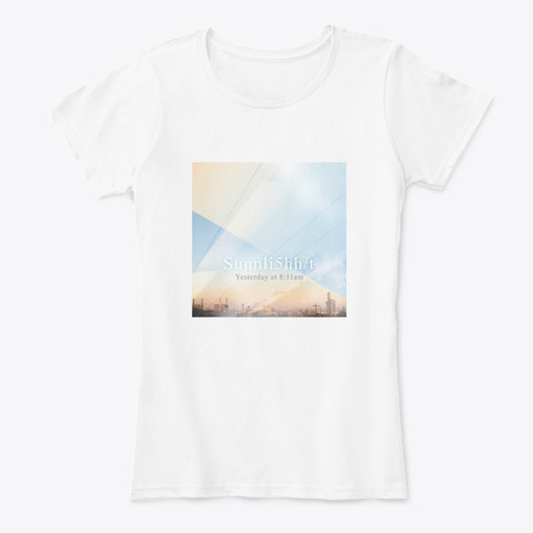 Yesterday At 8:11am (Album Art) White Women's T-Shirt Front