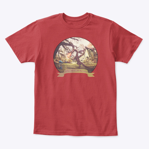 Blue Bear  And The Dragon  Classic Red T-Shirt Front