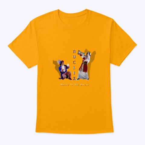 Au Clix   Dance To The Music Gold T-Shirt Front