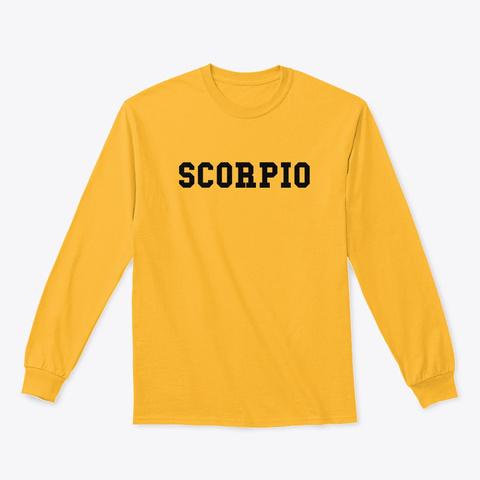 Scorpio Gold T-Shirt Front