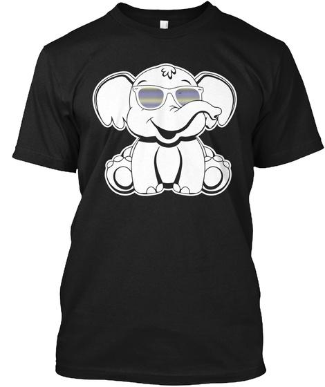 Elephant Black T-Shirt Front