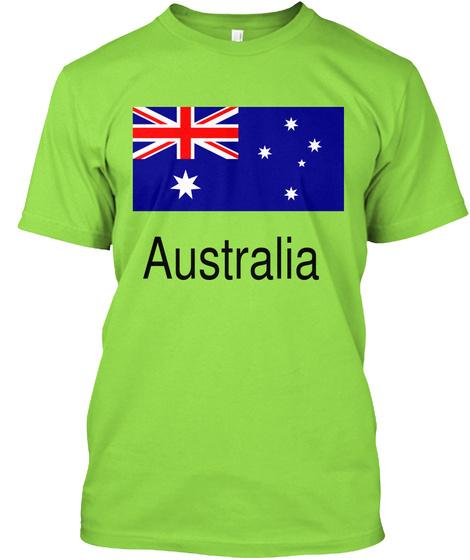 Australia  Lime T-Shirt Front