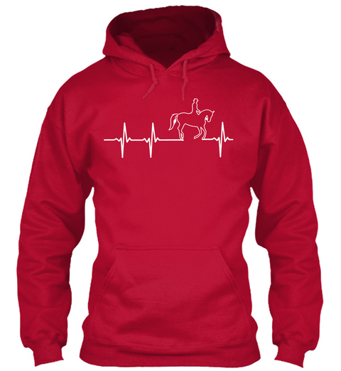 Horse In My Heartbeat Shirt!  Fire Red T-Shirt Front