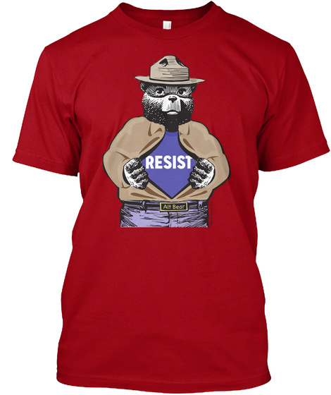 Resist Deep Red T-Shirt Front