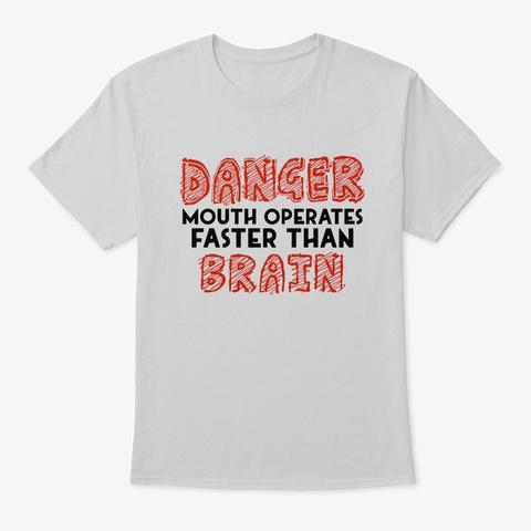 Danger Mouth Brain Light Steel T-Shirt Front