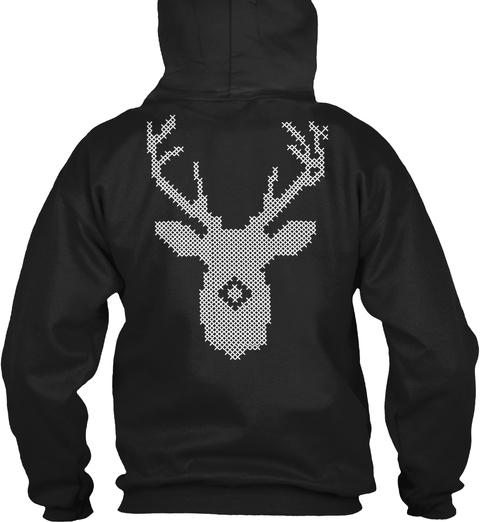 Ugly Christmas Hoodies Black T-Shirt Back