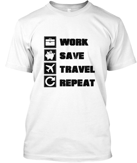 Fun Traveler White T-Shirt Front