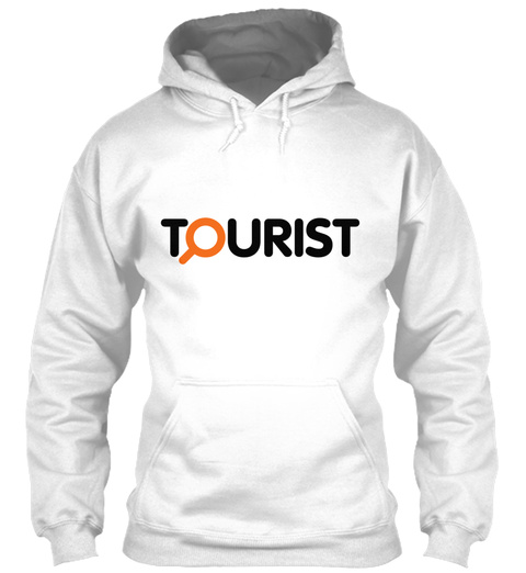 Tourist Holiday White T-Shirt Front