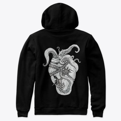 Heart & Eye Black T-Shirt Back