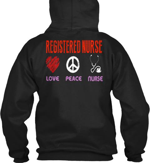 Rn   Nurse   Registered Nurse   215 Black T-Shirt Back