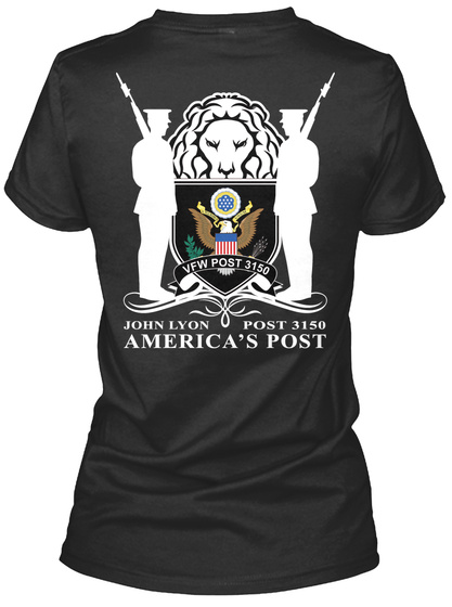 View Post 3150 John Lyon Post 3150 America's Post Black Women's T-Shirt Back