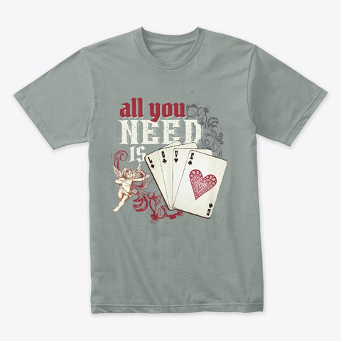 All You Need Is Love (Dark) Warm Grey T-Shirt Front