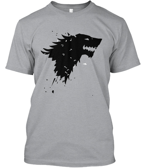 #Go Housestark Heather Grey T-Shirt Front