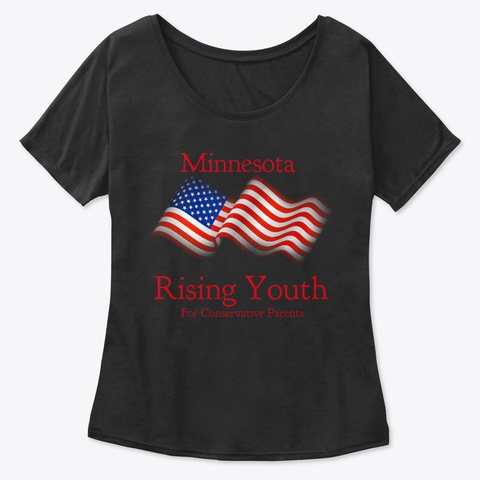 Mn Rising Youth Black T-Shirt Front