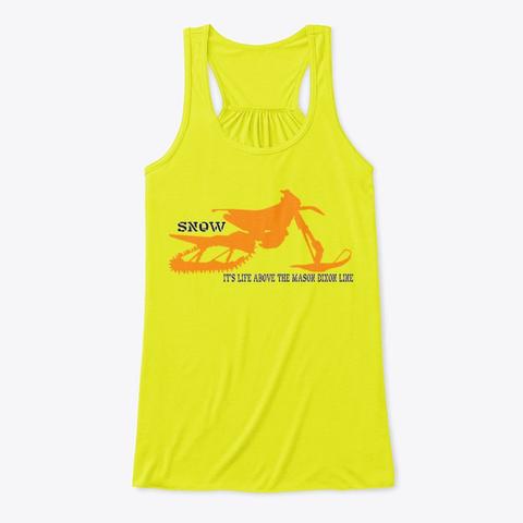 Life Above The Mason Dixon Line Tank Neon Yellow T-Shirt Front